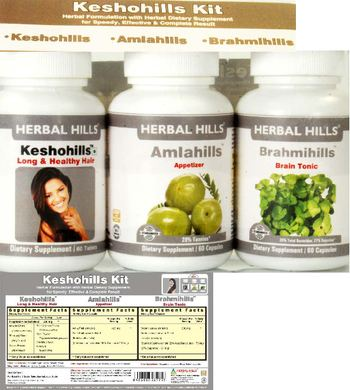 Herbal Hills Keshohills Kit Keshohills - supplement