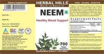 Herbal Hills Neem - supplement