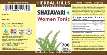 Herbal Hills Shatavari - supplement