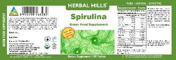 Herbal Hills Spirulina Green Food Supplement - green food supplement