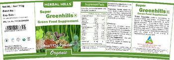 Herbal Hills Super Greenhills - green food supplement