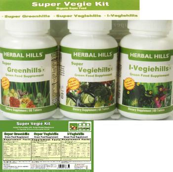 Herbal Hills Super Vegie Kit I-Vegiehills - green food supplement