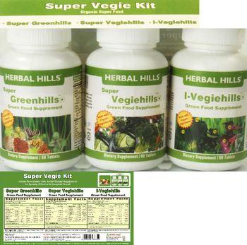 Herbal Hills Super Vegie Kit Super Greenhills - green food supplement