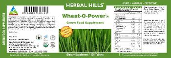 Herbal Hills Wheat-O-Power Green Food Supplement - supplement