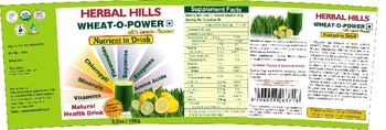 Herbal Hills Wheat-O-Power With Lemon Flavor - natural health drink