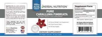 Herbal Nutrition Pure Caralluma Fimbriata - supplement