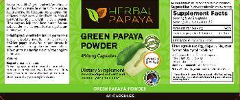 Herbal Papaya Green Papaya Powder - supplement