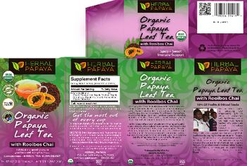 Herbal Papaya Organic Papaya Leaf Tea With Rooibos Chai - herbal tesupplement