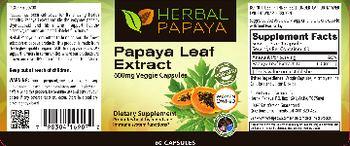 Herbal Papaya Papaya Leaf Extract 600 mg - supplement