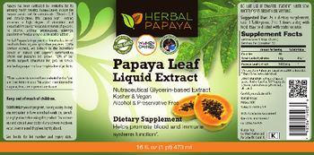 Herbal Papaya Papaya Leaf Liquid Extract - supplement