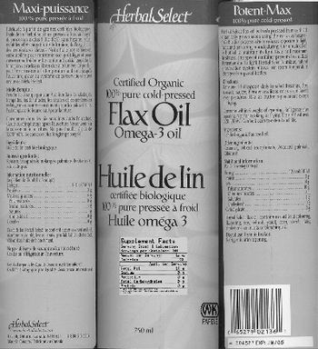 Herbal Select Flax Oil -