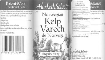 Herbal Select Norwegian Kelp - supplement