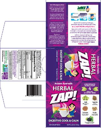Herbal Zap Digestive Cool & Calm - instantly dissolving herbal supplement