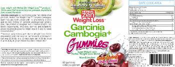 Herbal Zen Weight Loss Garcinia Cambogia+ Gummies Cherry Blast - supplement