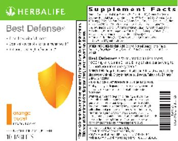 Herbalife Best Defense Orange Boost - effervescent supplement