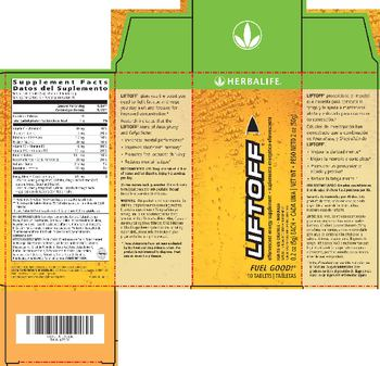 Herbalife Liftoff Ignite-Me Orange - naturally flavored supplement