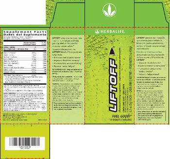 Herbalife Liftoff Lemon-Lime Blast - naturally flavored supplement