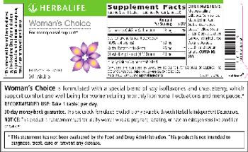 Herbalife Woman's Choice - supplement