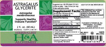 Herbalist & Alchemist H&A Astragalus Glycerite - herbal supplement