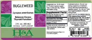 Herbalist & Alchemist H&A Bugleweed - herbal supplement