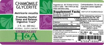 Herbalist & Alchemist H&A Chamomile Glycerite - herbal supplement
