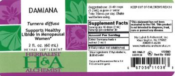 Herbalist & Alchemist H&A Damiana - herbal supplement