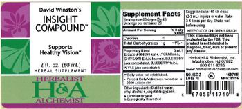 Herbalist & Alchemist H&A David Winston's Insight Compound - herbal supplement