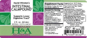 Herbalist & Alchemist H&A David Winston's Intestinal Calmpound - herbal supplement