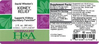 Herbalist & Alchemist H&A David Winston's Kidney Relief - herbal supplement