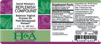 Herbalist & Alchemist H&A David Winston's Replenish Compound - herbal supplement