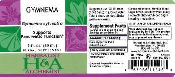 Herbalist & Alchemist H&A Gymnema - herbal supplement