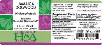 Herbalist & Alchemist H&A Jamaica Dogwood - herbal supplement