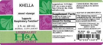 Herbalist & Alchemist H&A Khella - herbal supplement