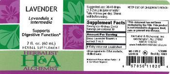 Herbalist & Alchemist H&A Lavender - herbal supplement