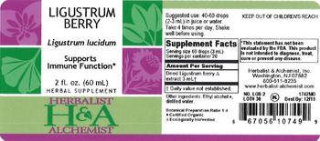 Herbalist & Alchemist H&A Ligustrum Berry - herbal supplement