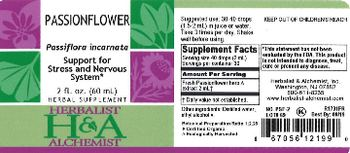 Herbalist & Alchemist H&A Passionflower - herbal supplement