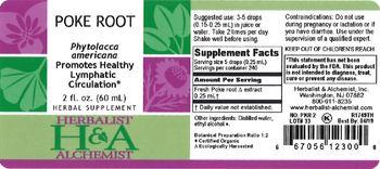 Herbalist & Alchemist H&A Poke Root - herbal supplement
