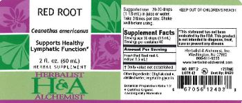 Herbalist & Alchemist H&A Red Root - herbal supplement