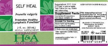 Herbalist & Alchemist H&A Self Heal - herbal supplement