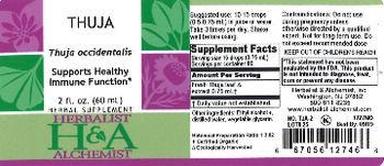 Herbalist & Alchemist H&A Thuja - herbal supplement