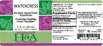 Herbalist & Alchemist H&A Watercress - herbal supplement