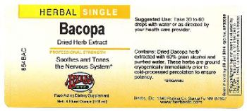 Herbs Etc. Bacopa - fastacting supplement