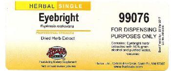 Herbs Etc. Eyebright - fastacting supplement