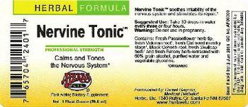 Herbs Etc. Nervine Tonic - fastacting supplement