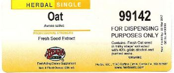 Herbs Etc. Oat - fastacting supplement