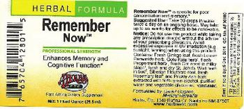 Herbs Etc. Remember Now - fastacting supplement
