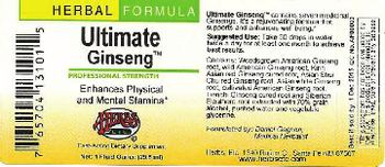 Herbs Etc. Ultimate Ginseng - fastacting herbal supplement