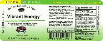 Herbs Etc. Vibrant Energy - fastacting supplement
