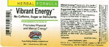 Herbs Etc. Vibrant Energy - herbal supplement