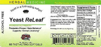 Herbs Etc. Yeast ReLeaf - fastacting supplement